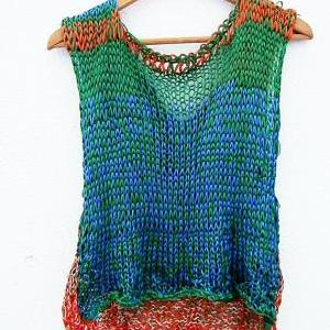 Knitted unique blouse